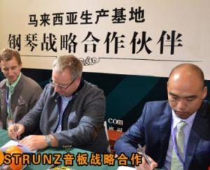 德国STRUNZ音板公司签订战略合作