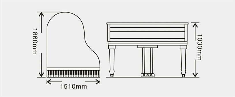 伯格雅各比J-186S型号钢琴