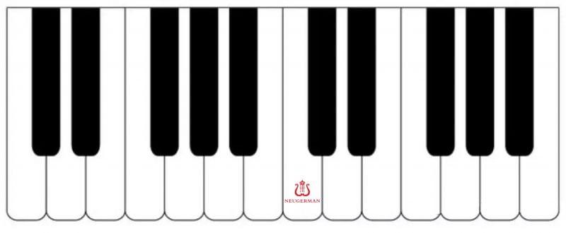 钢琴键盘-中央C音位置