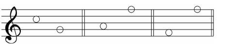 谱例7:b.间到线